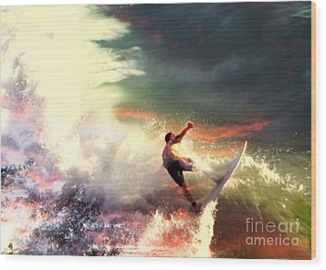 One Last Ride Wood Print by Kevin Moore