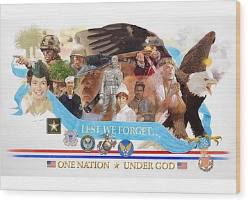 One Nation Under God Wood Print by Chuck Hamrick