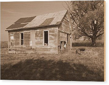 One Room School House Wood Print by Rick Rauzi