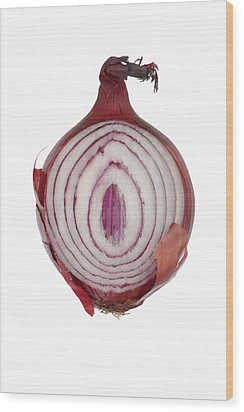 Onion Wood Print by Frank Tschakert