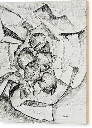 Onions Wood Print by Lynda K Boardman