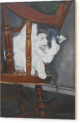 Wood Print featuring the painting Oops by Lori Brackett