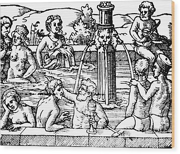 Open-air Bath Balneology 1571 Wood Print by Science Source
