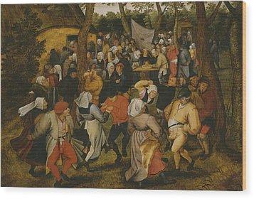 Open Air Wedding Dance Wood Print by Pieter the Younger Brueghel