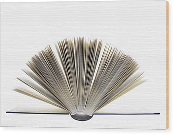 Open Book Wood Print by Frank Tschakert