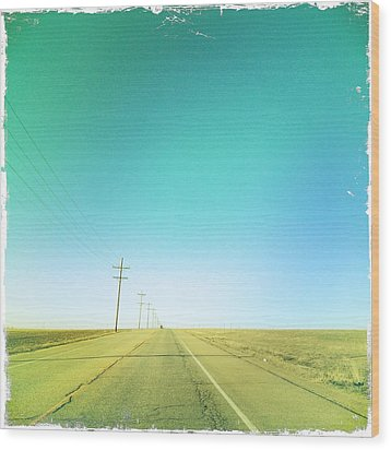 Open Road Wood Print by A L Christensen