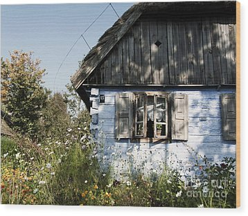 Wood Print featuring the photograph Open Window On Late Summer Afternoon by Agnieszka Kubica