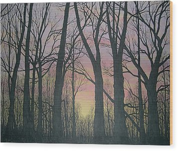 Wood Print featuring the painting Opening Day - Northern Hardwoods by Kathleen McDermott