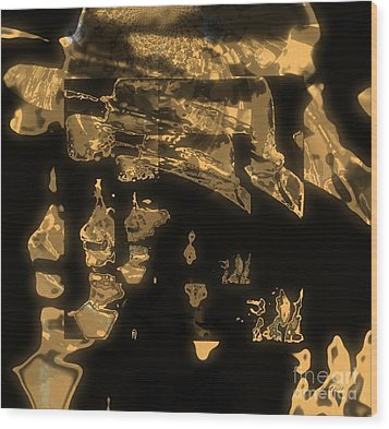 Operating Shadow And Power Wood Print by Fania Simon