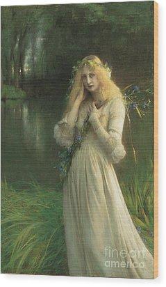 Ophelia Wood Print by Pascal Adolphe Jean Dagnan Bouveret
