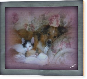 Wood Print featuring the photograph Opposites Attract by Michelle Frizzell-Thompson