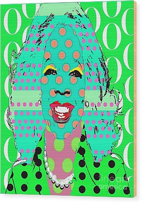 Oprah Wood Print by Ricky Sencion