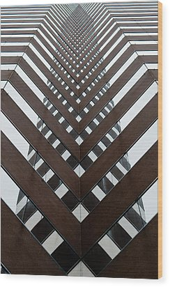 Optical Illusion Wood Print by Keith Allen