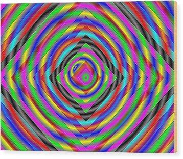 Wood Print featuring the digital art Optical Illusion by Mario Carini