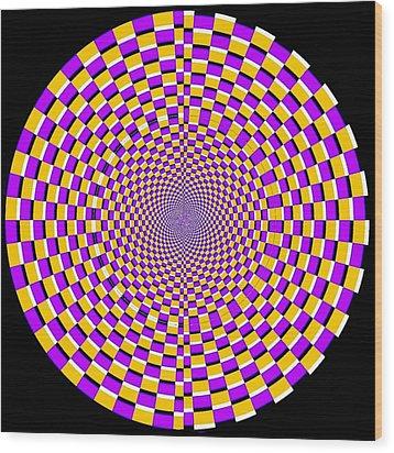 Optical Illusion Moving Cobweb Wood Print by Sumit Mehndiratta