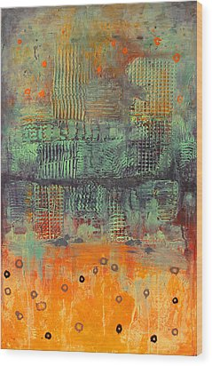 Wood Print featuring the painting Orange Abstract by Lolita Bronzini