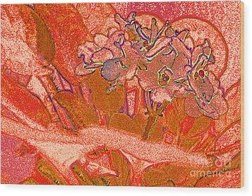 Orange Joy Wood Print by First Star Art