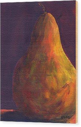 Orange Pear Wood Print by Rosie Phillips