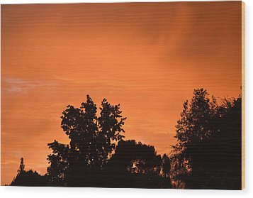 Orange Sky Wood Print by Naomi Berhane