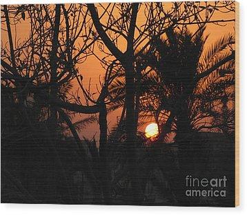 Orange Sky Wood Print by Will Cardoso
