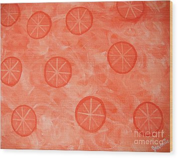 Orange Slices Wood Print by Jeannie Atwater Jordan Allen