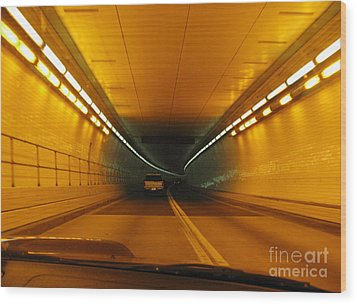 Orange Tunnel In Dc Wood Print by Ausra Huntington nee Paulauskaite