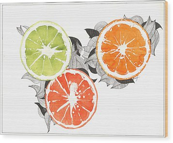 Orange Wood Print by Viki Vehnovsky
