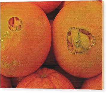 Wood Print featuring the photograph Oranges by Bill Owen