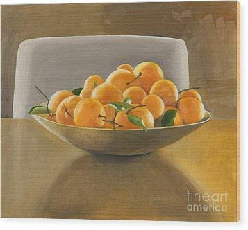 Oranges Wood Print by Melissa Burke