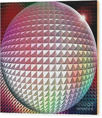 Orb It Wood Print by Cristophers Dream Artistry