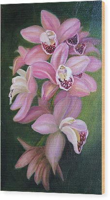 Wood Print featuring the painting Orchids by Marlyn Boyd