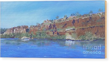 Ord River Afteroon Cruise Wood Print by Nadine Kelly