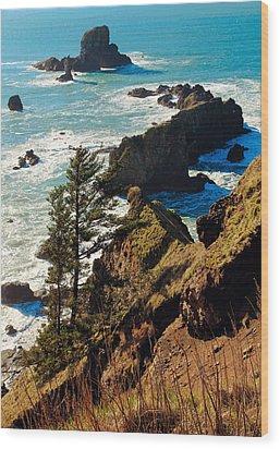 Wood Print featuring the photograph Oregon Coast by Athena Mckinzie
