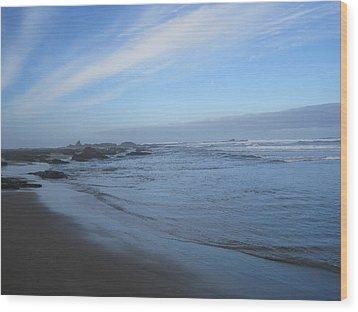 Wood Print featuring the photograph Oregon Coast In Blue by Karen Molenaar Terrell