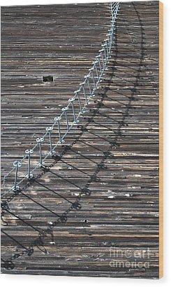 Oregon Ghost Town 2 Wood Print by Jen Bodendorfer