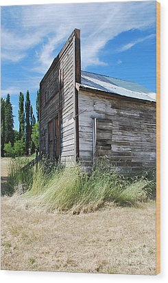Oregon Ghost Town Wood Print by Jen Bodendorfer