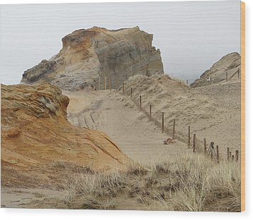 Wood Print featuring the photograph Oregon Sand Dunes by Athena Mckinzie