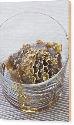 Organic Honey Comb Wood Print by Frank Tschakert