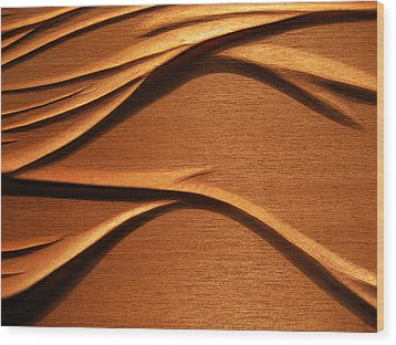 Organic Mahogany Shadows Wood Print by Charles Dancik