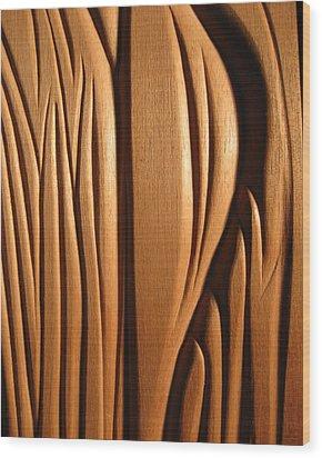 Organic Mahogany Shapes Wood Print by Charles Dancik