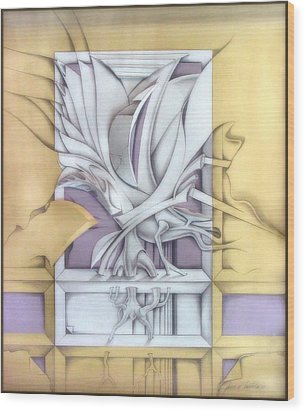 Organicomp 1991 Wood Print by Glenn Bautista