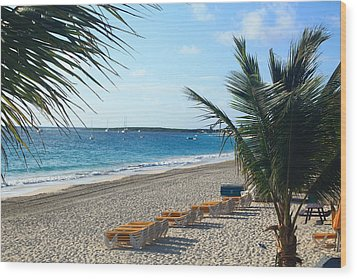 Wood Print featuring the photograph Orient Beach St Maarten by Catie Canetti