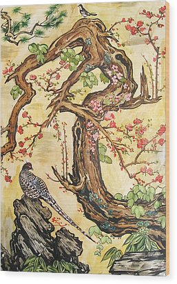 Oriental Landscape2 Wood Print by Michail Noskov