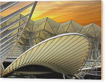 Oriente Station Wood Print by Carlos Caetano