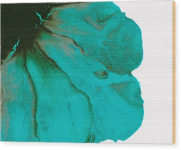Original Aceo Flower Painting Tidal Wood Print by Catherine Jeltes