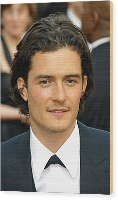 Orlando Bloom At Arrivals For 77th Wood Print by Everett