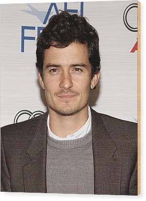 Orlando Bloom At Arrivals For Afi Fest Wood Print by Everett