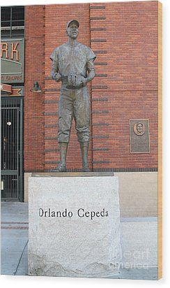 Orlando Cepeda At San Francisco Giants Att Park .7d7631 Wood Print by Wingsdomain Art and Photography