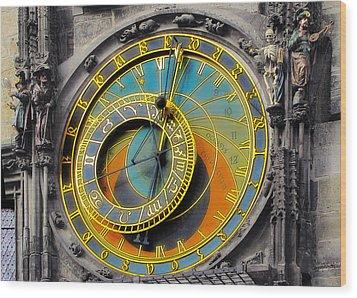 Orloj - Astronomical Clock - Prague Wood Print by Christine Till