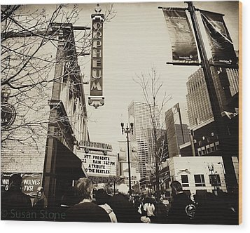 Orpheum Theatre Wood Print by Susan Stone